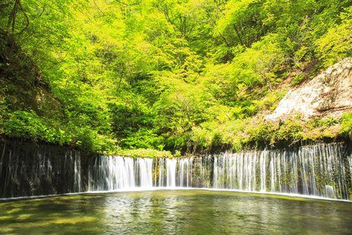 ▲白絲瀑布絲絹般的流水(圖/ shutterstock.com)