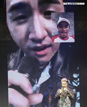 鹿希派&斯亞「Famous PIE」演唱會,鹿希派嘻哈饒舌嗨翻全場,父親吳宗憲視訊祝賀。(記者林士傑/攝影)