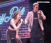 鹿希派&斯亞「Famous PIE」演唱會,鹿希派嘻哈饒舌嗨翻全場與特別嘉賓高以馨一同演出。(記者林士傑/攝影)
