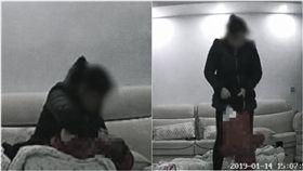 長沙,保母,虐嬰,罰款,暴力(圖/翻攝自梨視頻)