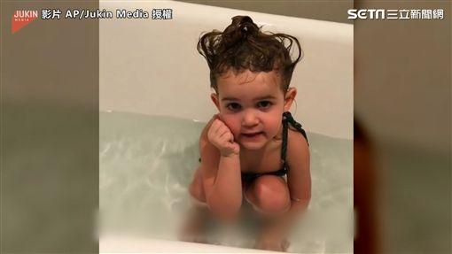▲要是能夠選擇,Mila會把孩子丟到日間托兒所。(圖/AP/Jukin Media授權)