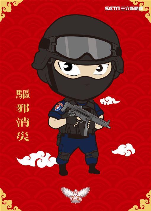 台中市,台中市警局,春聯,警察門神春聯,TCPB局長室