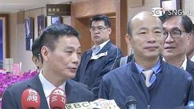 韓國瑜備詢前與議長許崑源會面,直播