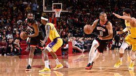 NBA/鬍飆48分火箭延長逆轉湖人 NBA,休士頓火箭,James Harden,Eric Gordon,洛杉磯湖人 翻攝自推特
