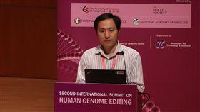 基因編輯嬰兒引巨大爭議  賀建奎現身峰會因基因編輯嬰兒事件引起巨大爭議的中國南方科技大學副教授賀建奎,28日現身在香港舉行的第2屆人類基因組編輯國際峰會。中央社記者張謙香港攝 107年11月28日