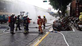 北市施工挖斷管線疑瓦斯外洩 消防馳援