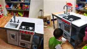 好市多「小小中島廚房遊戲組」特價。(圖/翻攝自臉書)