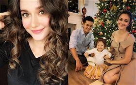 來自烏克蘭的混血名模瑞莎和台灣鞋業小開Mike結婚快滿4年,育有2歲女兒Nika。(翻攝臉書)