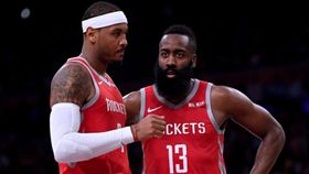 NBA/甜瓜終離隊 大鬍子暖語祝福 NBA,休士頓火箭,Carmelo Anthony,甜瓜,James Harden 翻攝自推特