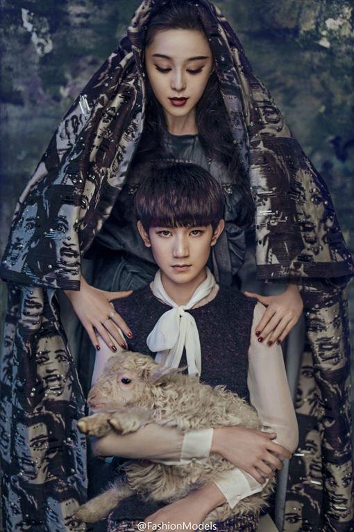 范冰冰,TFBOYS,王源/翻攝自FashionModels微博