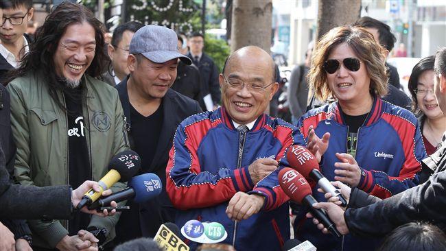為蕭青陽、董事長樂團集氣 蘇貞昌強調:「同一隊」的