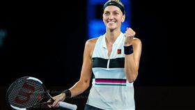 ▲柯維托娃繼2014年潱網後再次闖進大滿貫決賽。(圖/翻攝自澳網推特)