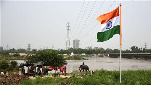印度國旗(圖/達志影像/美聯社)