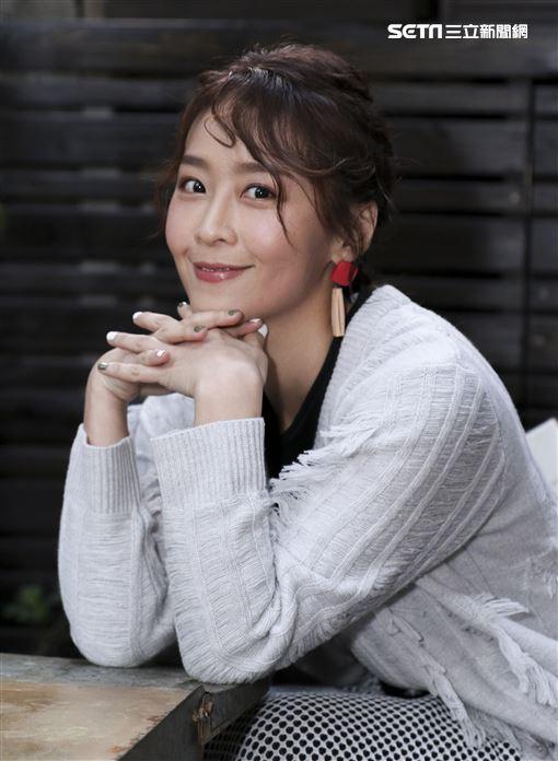 三立最新華劇「必勝大丈夫」飾演黃家二女兒黃天虹—演員林昀希專訪。(記者林士傑/攝影)