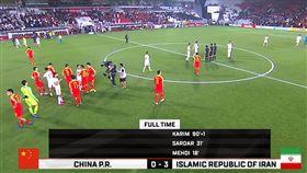 ▲伊朗3:0勝中國。(圖/取自YouTube畫面)
