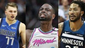 NBA/玫瑰、東契奇高人氣先發落選 NBA,2019全明星,Derrick Rose,Luka Doncic,Dwyane Wade 翻攝自推特
