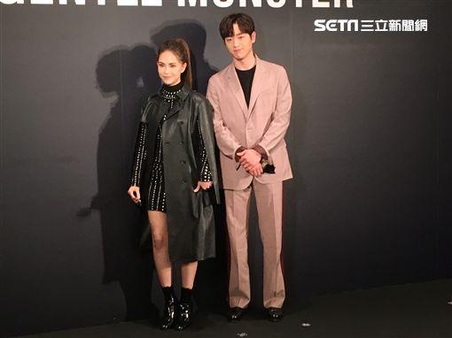 徐康俊、昆凌出席精品開幕活動。(圖/記者常朝貴攝影)