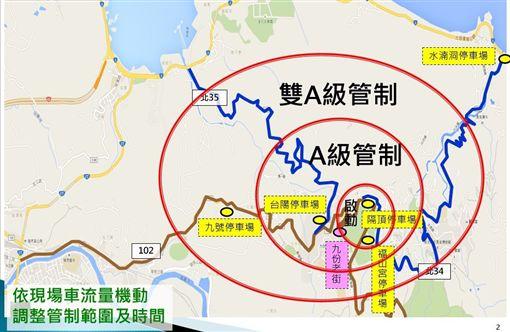 最長9天春節連假 九份交通管制上路 停車攻略看這裡(圖/瑞芳警分局提供)