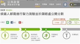 網友國發會提案「候選人公布智力測驗」 列13項利益酸爆(圖/翻攝公共政策網路參與平台網站)