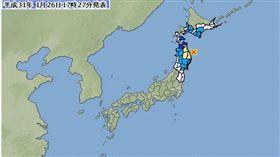 (圖/翻攝自日本氣象廳)日本,地震,岩手縣