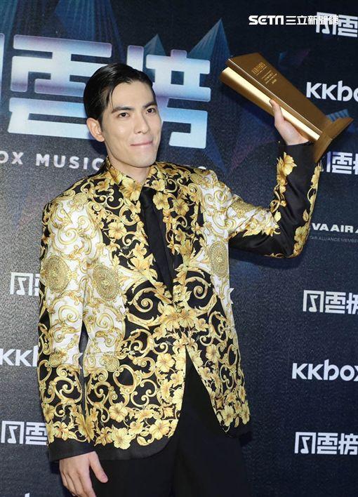 蕭敬騰出席KKBOX。(圖/記者常朝貴攝影)