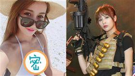 電玩展《全境封鎖 2》帥氣女特工(中)成亮點,原來是現役美女啦啦隊員。(圖/記者林士傑攝影)
