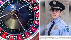 美國路易斯安那州一名24歲正妹女警艾莉克絲(Katlyn Alix),日前與男同事亨德倫(Nathaniel Hendren)拿裝有1顆子彈的手槍玩「俄羅斯輪盤」,結果艾莉克絲慘被擊斃,目前亨德倫被控誤殺罪。(組圖/翻攝自PIXABAY、www.upi.com)