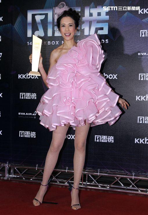 莫文蔚KKBOX年度風雲歌手。(圖/記者邱榮吉攝影)