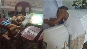 媽媽難產走了 淚崩!5歲兒天天抱棺睡「等她醒」(圖/翻攝自Marichu Gabriel臉書)