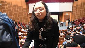 唐鳳對青年論壇表肯定2018雙北市長青年論壇21日下午在台大舉行,行政院政務委員唐鳳也出席聆聽,並表示參加論壇很值得,青年朋友的發問都非常好。中央社記者孫仲達攝 107年10月21日