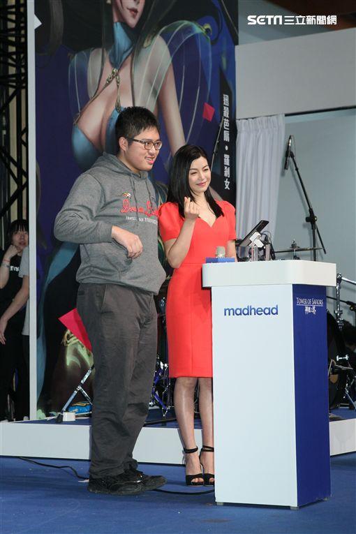 陳妍希出席手遊代言活動。(圖/記者常朝貴攝影)