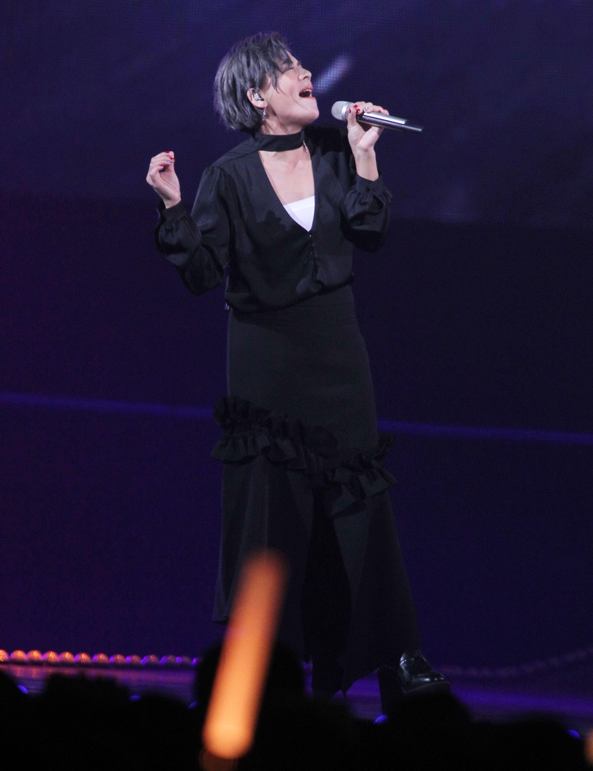 江美琪KKbox風雲榜演唱。(記者邱榮吉/攝影)