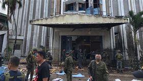 菲律賓和魯鎮教堂發生爆炸菲律賓南部蘇祿省和魯鎮大教堂發生爆炸案,死傷達百人。(西民答那峨島軍區提供)中央社記者林行健馬尼拉傳真 108年1月27日