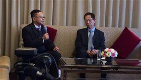 ▲香港民主之父李柱銘(右)來台談論香港目前一國兩制的問題。(圖/記者林仕祥攝)