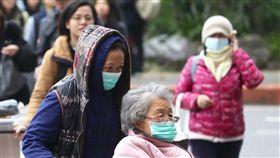 民眾戴口罩防流感(2)衛生福利部疾病管制署日前示警,國內處於流感流行期,近期受強烈大陸冷氣團影響,各地天氣寒冷,流感病毒更加活躍。不少走在台北街頭的民眾26日戴上口罩,以維護健康。中央社記者吳翊寧攝 108年1月26日