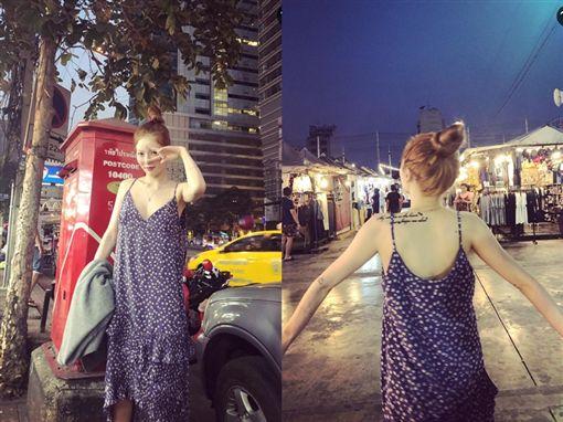 泫雅,泰國,旅遊,街頭造型。翻攝自泫雅@IG