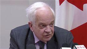 加拿大駐中大使麥家廉  談孟晚舟案加拿大駐中國大使麥家廉(John McCallum)上任以來首次與加拿大華文媒體會晤。中央社記者胡玉立傳真  108年1月24日