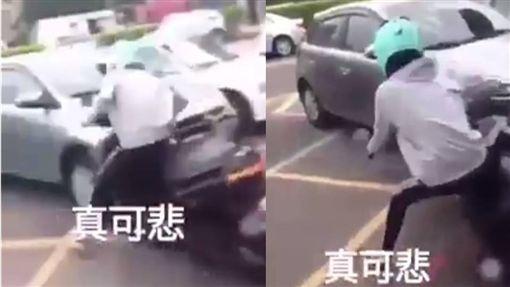 少年考到駕照表演「翹孤輪」慘撞車/翻攝自臉書台灣新聞記者聯盟資訊平台