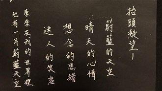 內埔國小教師 硬筆字書寫花博之美
