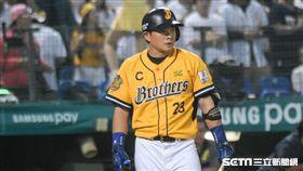 中華職棒總冠軍賽中信兄弟彭政閔 圖/記者林敬旻攝