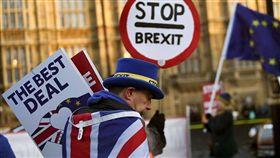 反對脫歐的民眾。(圖/翻攝自@ DukeCd36推特)