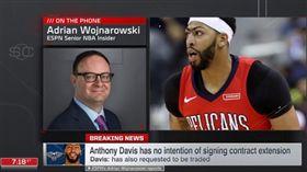 ▲沃神談戴維斯與湯普森動向。(圖/取自SportsCenter畫面)