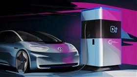▲Volkswagen移動式快速概念充電站。(圖/Volkswagen提供)