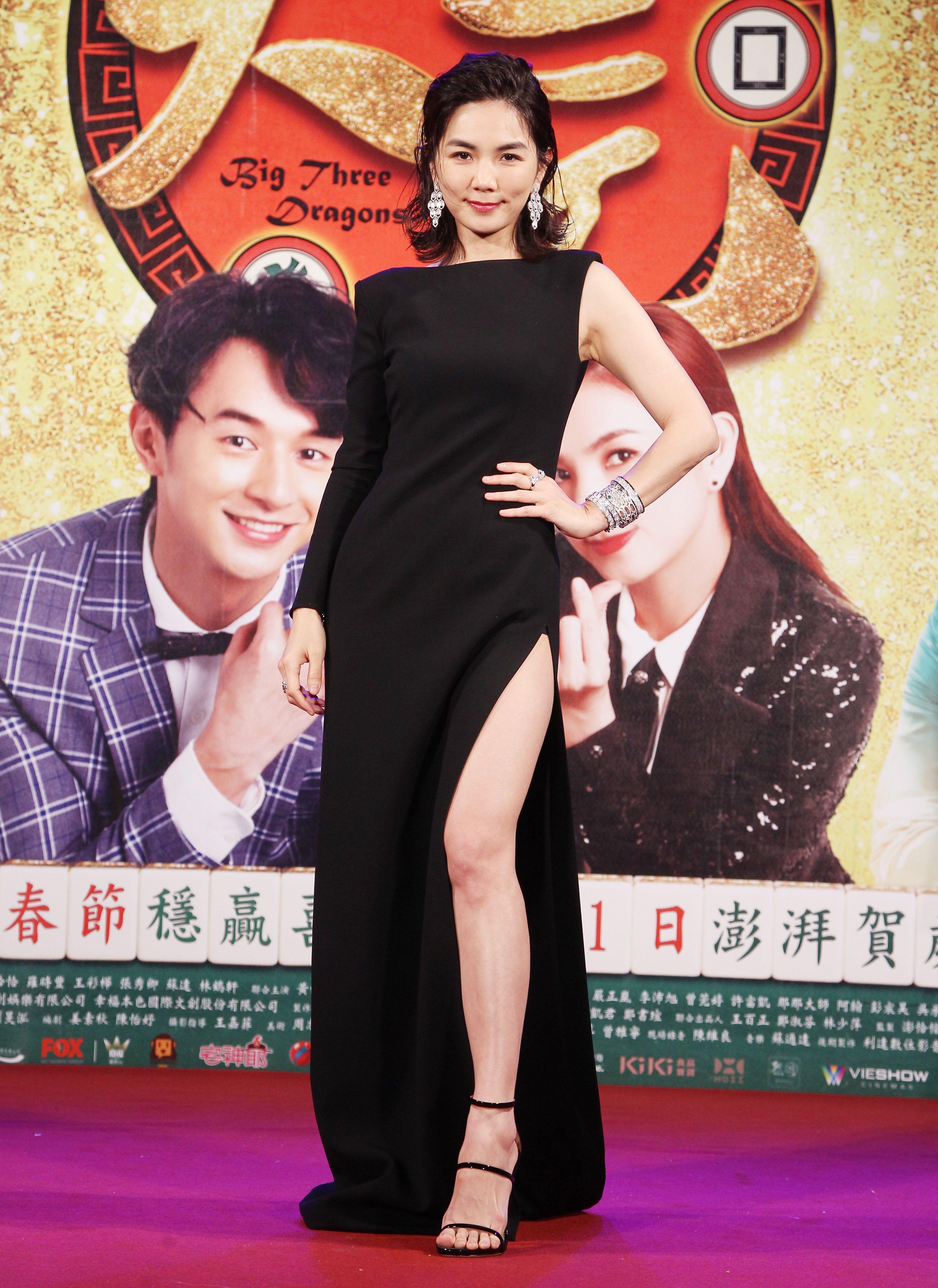 賀歲片「大三元」演員Ella陳嘉樺。(記者邱榮吉/攝影)