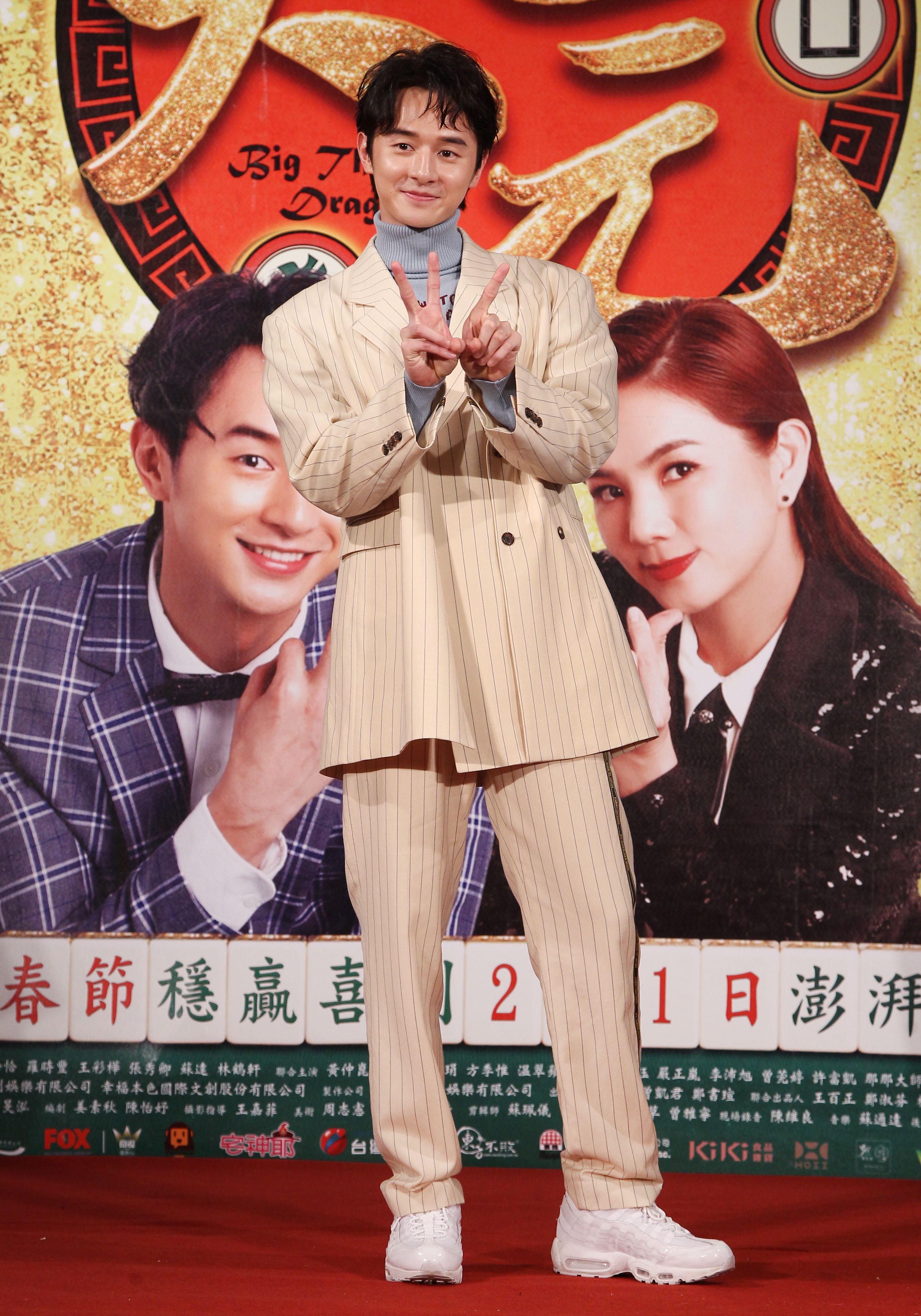 賀歲片「大三元」演員張軒睿。(記者邱榮吉/攝影)