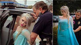 (圖/翻攝自McLean Police Department臉書)美國,極地渦旋,冰雪奇緣,艾莎,逮捕