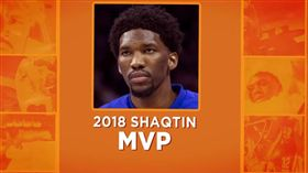 俠客烏龍球年度MVP由Joel Embiid獲獎(圖/翻攝自YouTube)