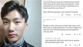 男生,亞洲,歐美,評分,reddit,PTT 圖/翻攝自PTT