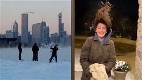 「明天過後」真實上演…極地渦旋奪21命 女長髮瞬間結凍 圖翻攝自推特、美聯社
