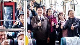雲林快捷客運,高鐵雲林站,林佳龍,交通部長,通車 圖/翻攝自林佳龍臉書